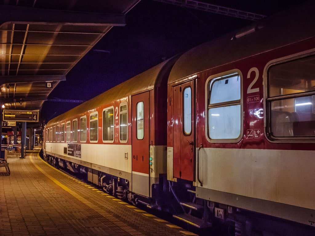 Ankunft Bahnhof Bratislava