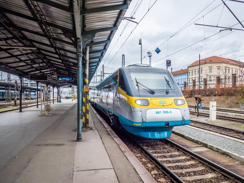 Pendolino Pilsen Bahnhof