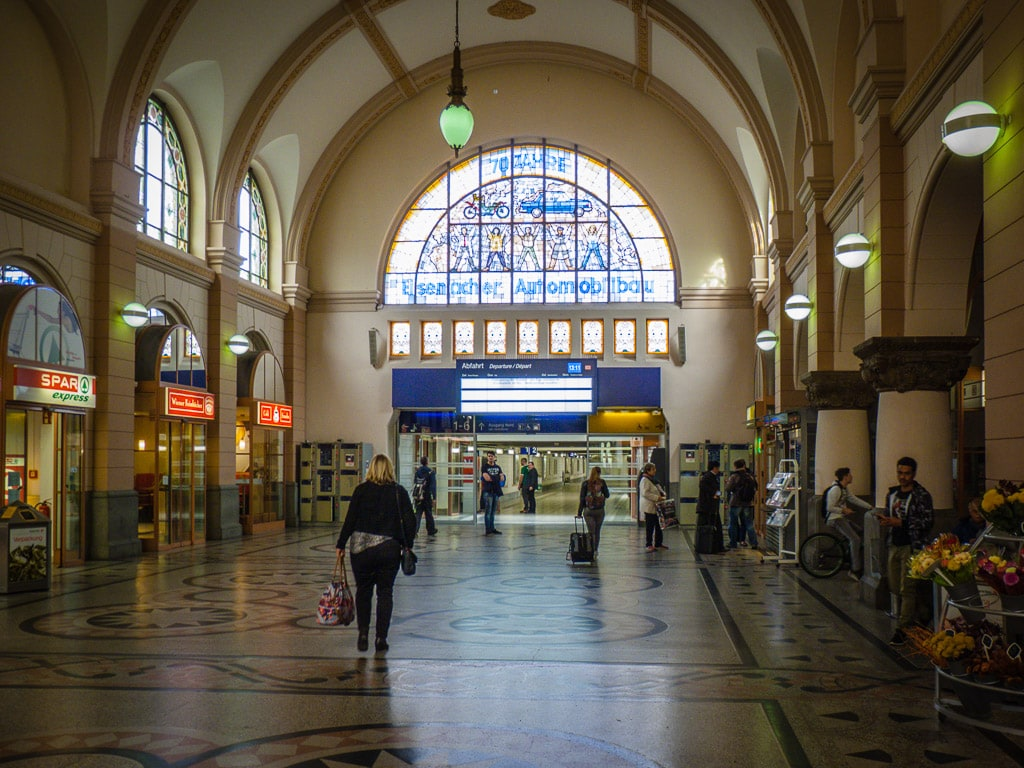 Bahnhof Eisenach Empfangshalle Glasmosaik