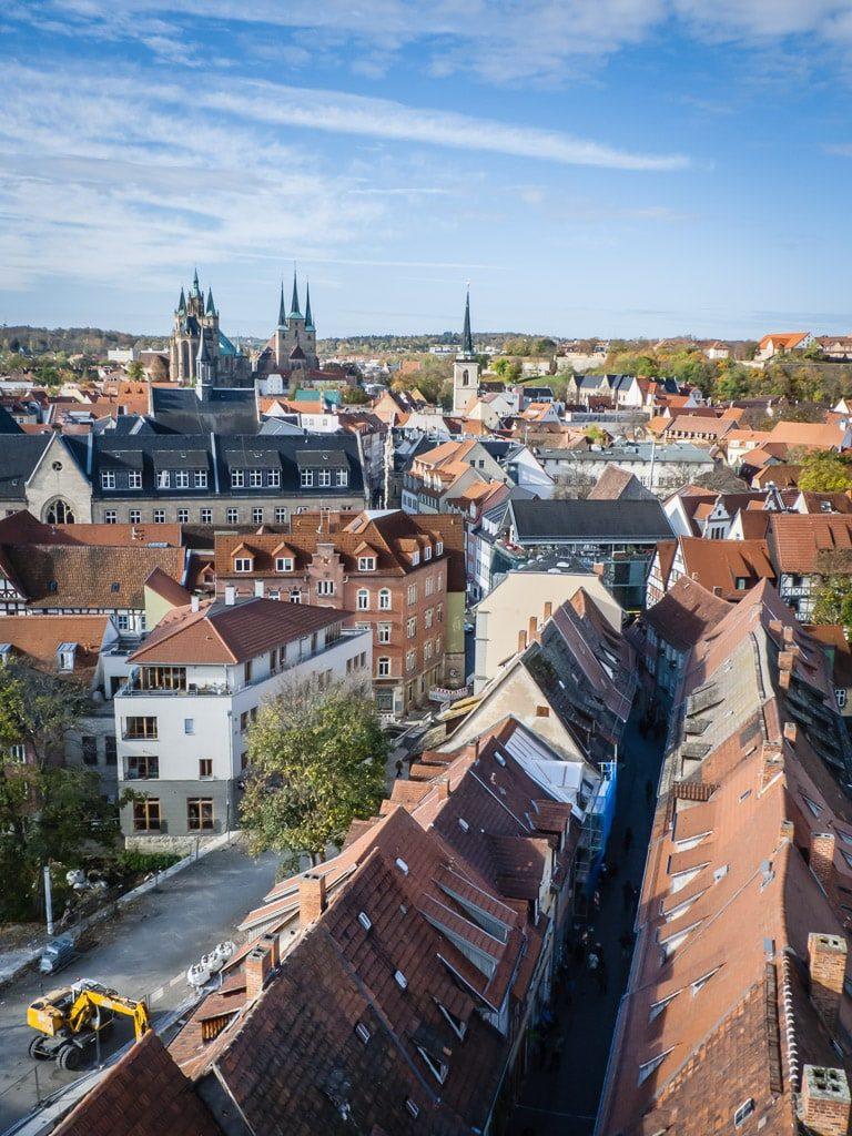 Aussicht von der Ägidienkirche Erfurt