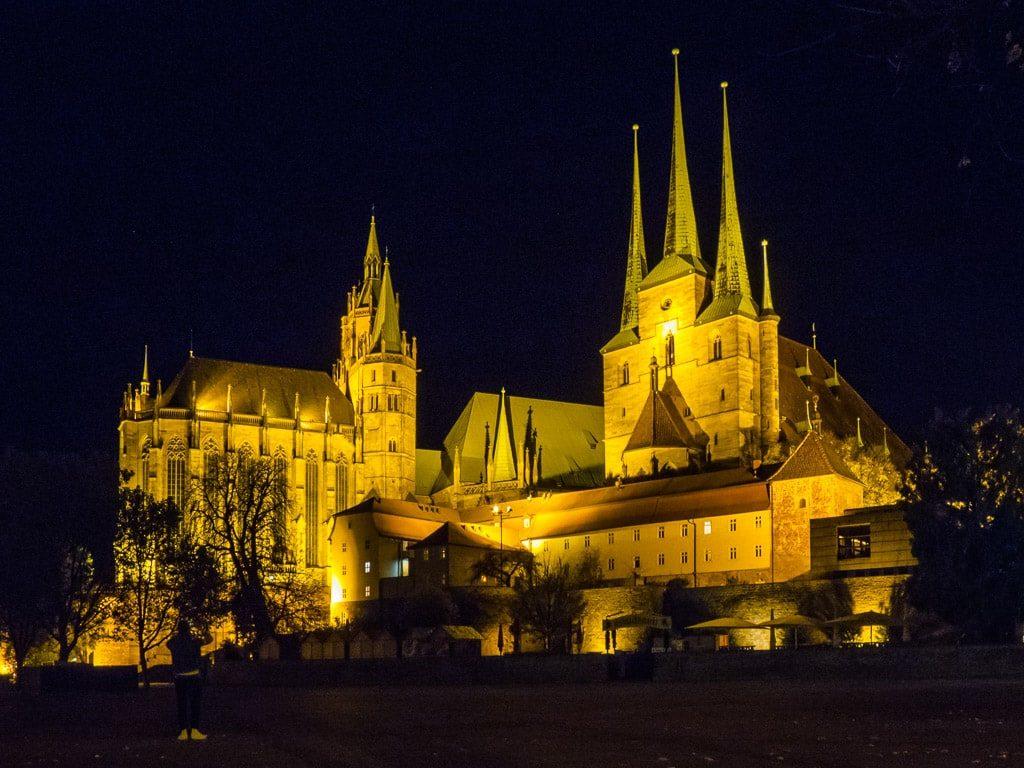 Erfurt Dom Severikirche Nacht