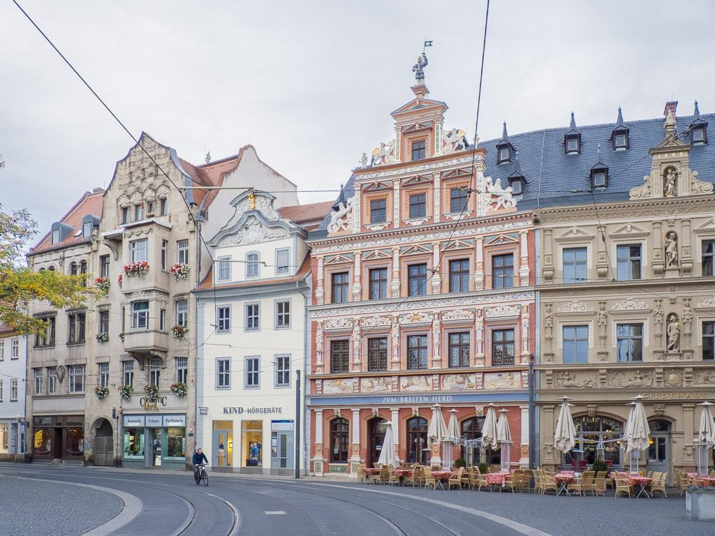 Renaissance-Häuser am Fischmarkt Erfurt