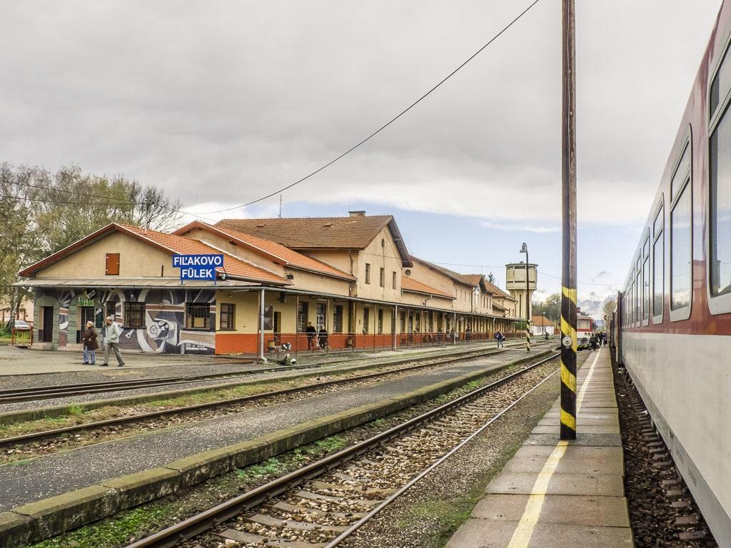 Bahnhof Fil'akovo Slowakei