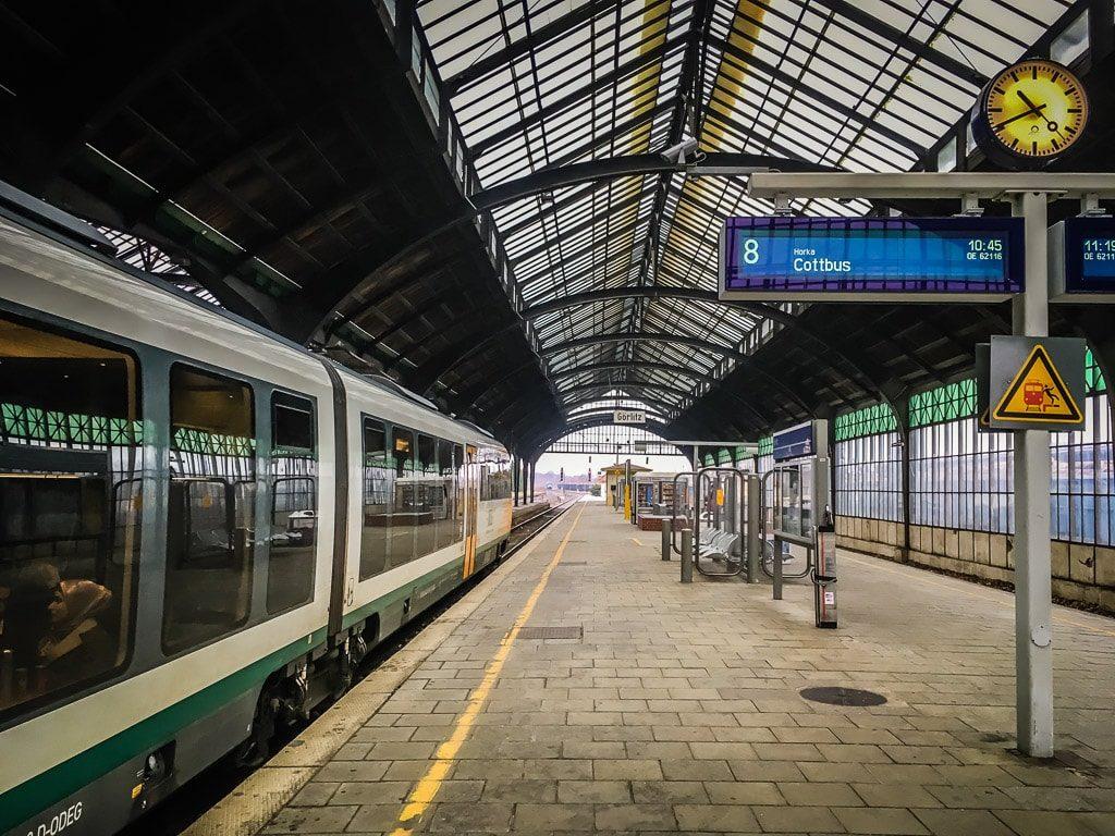 Görlitz Bahnhof Halle Triebwagen Ostdeutsche Eisenbahn ODEG