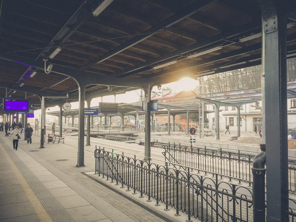 Bahnhof Jeleniá Gora Morgen
