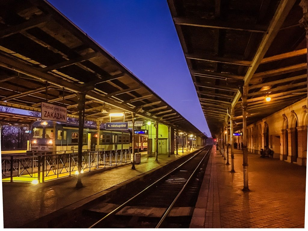 Bahnhof Liberec Abend
