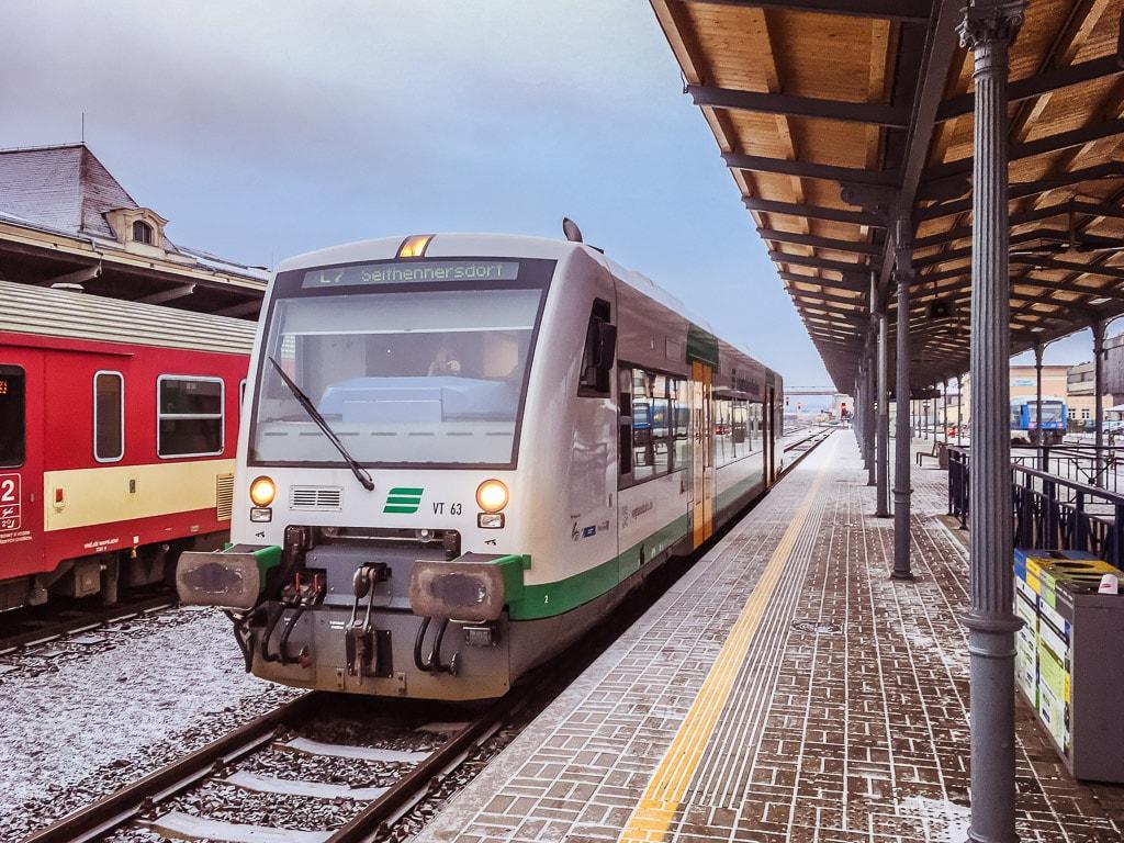 trilex Triebwagen Bahnhof Liberec