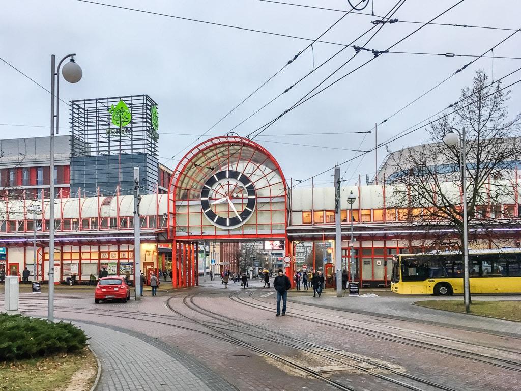 Busbahnhof Liberec Uhr