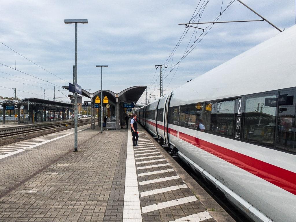 Ankunft ICE Lutherstadt Wittenberg