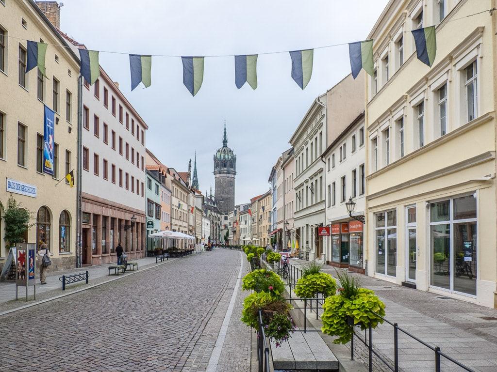 Innenstadt Lutherstadt Wittenberg Schlosskirche