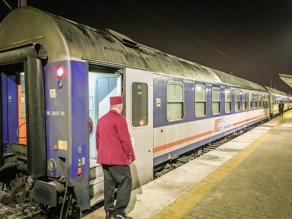 Schlafwagen Nachtzug Uznam Warschau