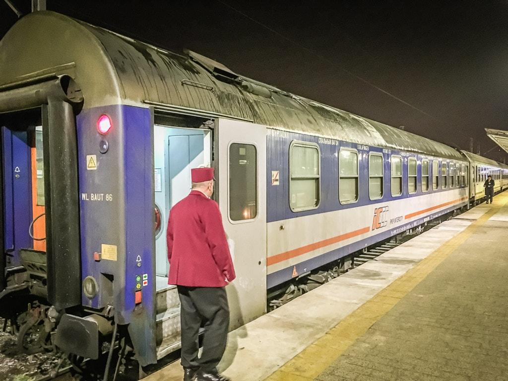 Nachtzug Schlafwagen Warschau Polen