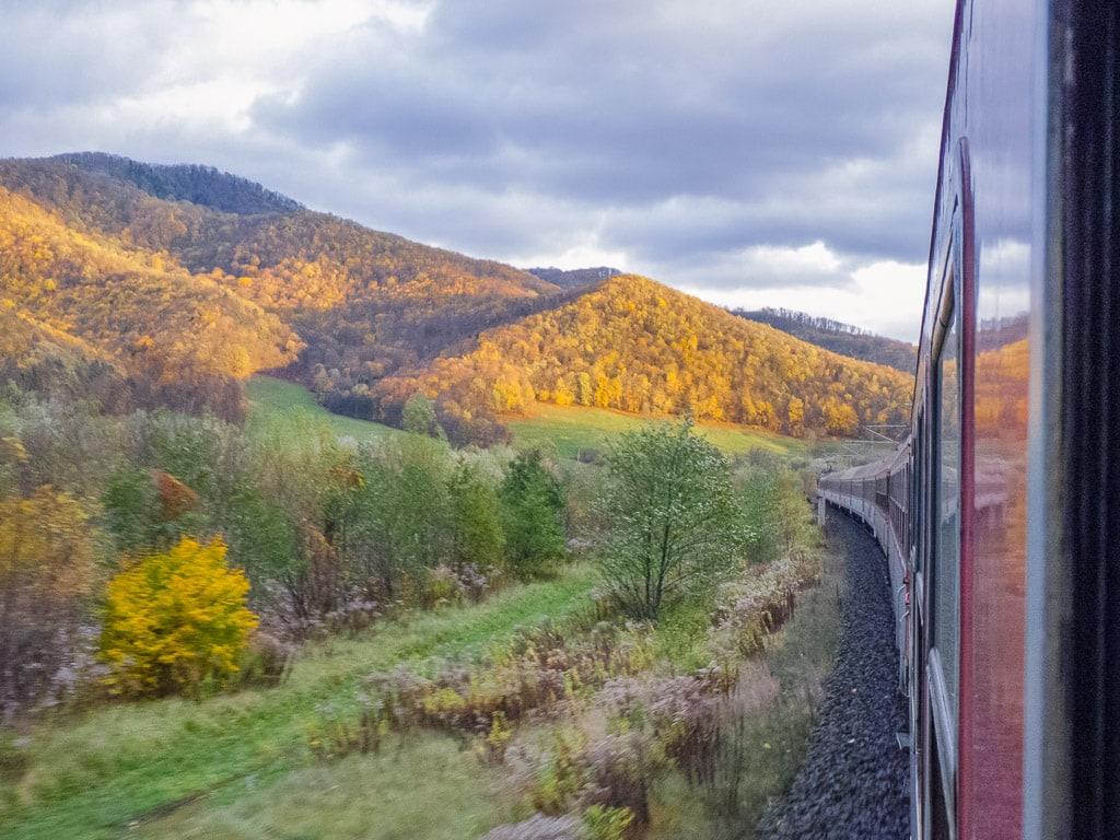 Herbstlandschaft im slowakischen Erzgebirge