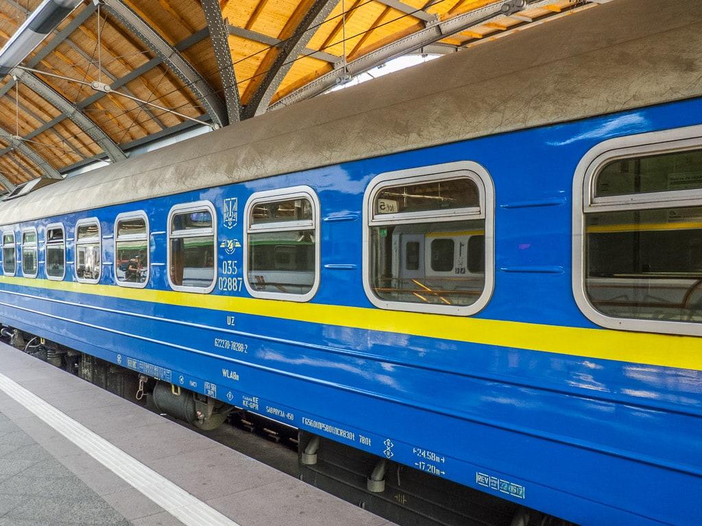 Schlafwagen Ukraine Bahnhof Wrocław Główny