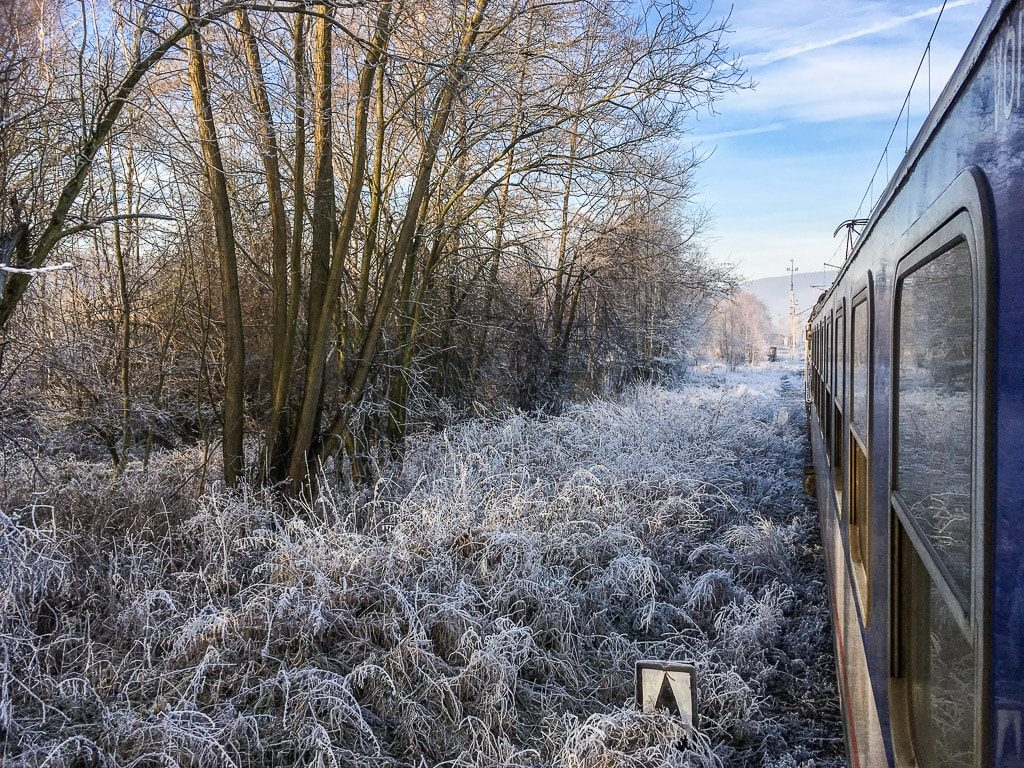 Zackenbahn Nachtzug Winter