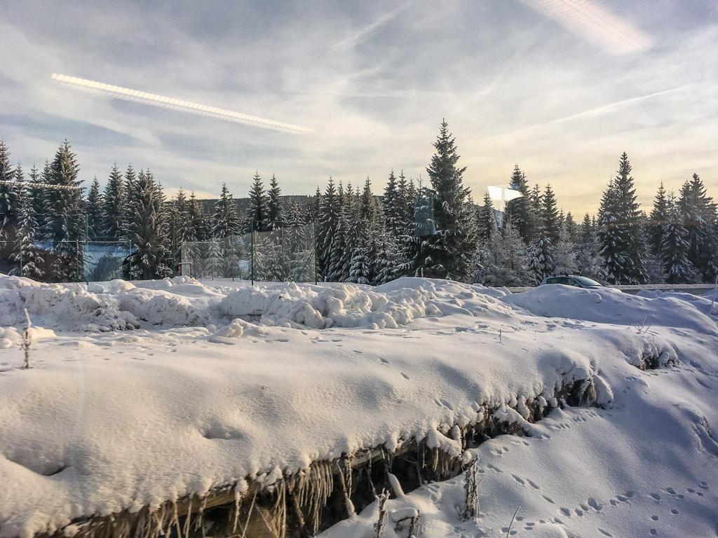 Winter Landschaft Zackenbahn