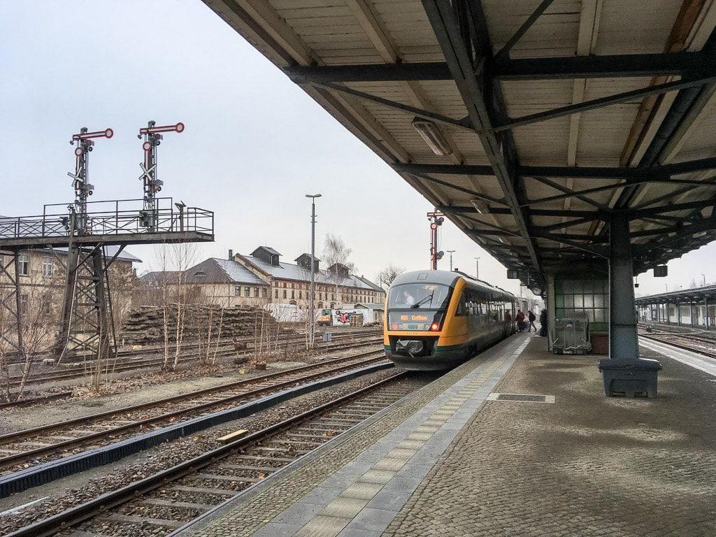 Zittau Bahnhof Triebwagen Ostdeutsche Eisenbahn ODEG