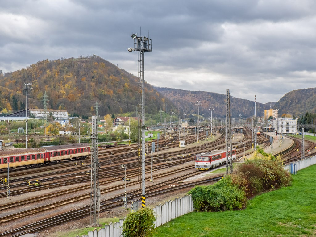 Zvolen Blick Gleisanlagen Bahnhof
