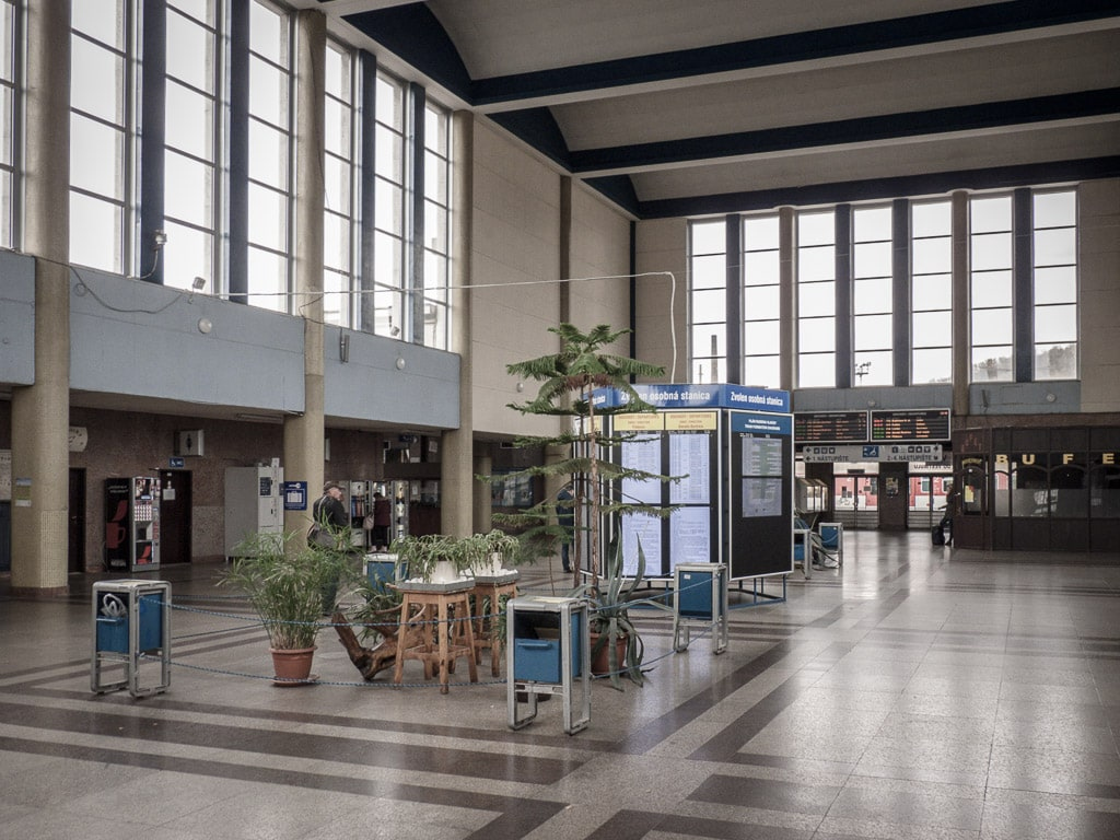 Im Bahnhofsgebäude von Zvolen