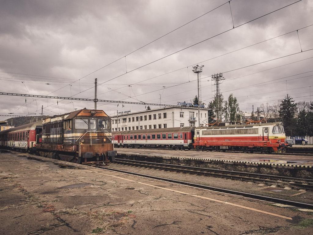Rangierarbeiten am Bahnhof Zvolen