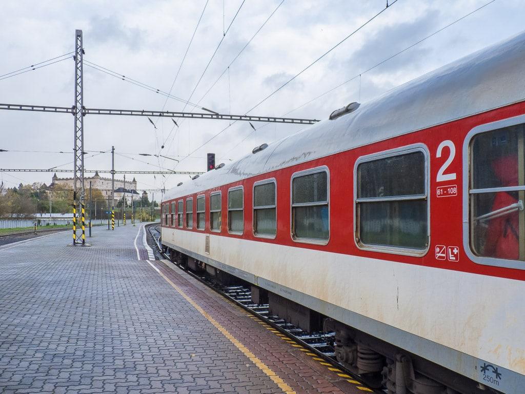 Rychlik Urpin im Bahnhof Zvolen