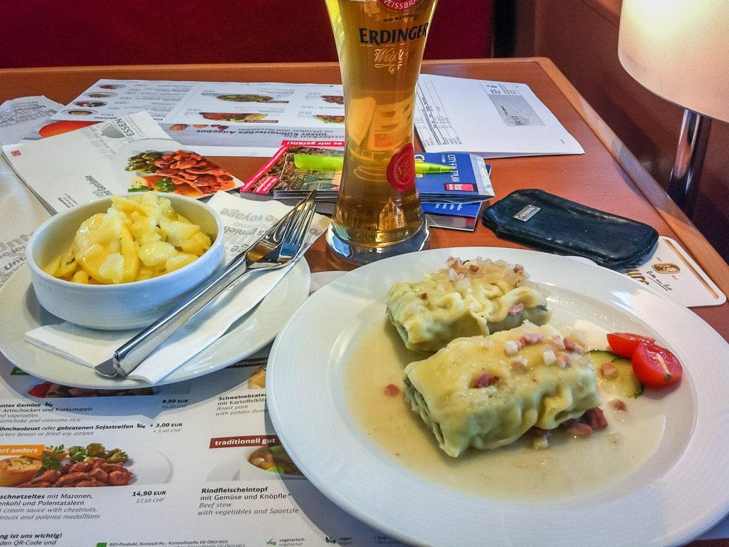 Maultaschen ICE Bordrestaurant