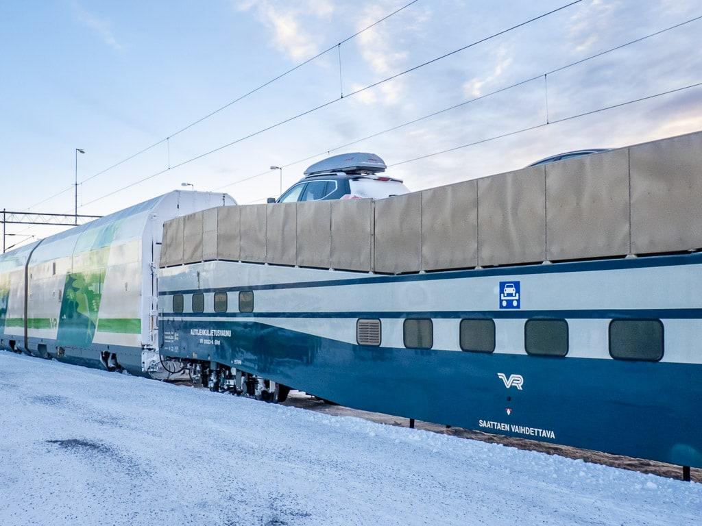 Autotransport Nachtzug Finnland