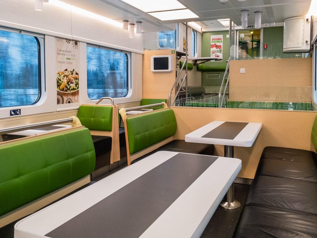 DuettoPlus Speisewagen im finnischen Nachtzug