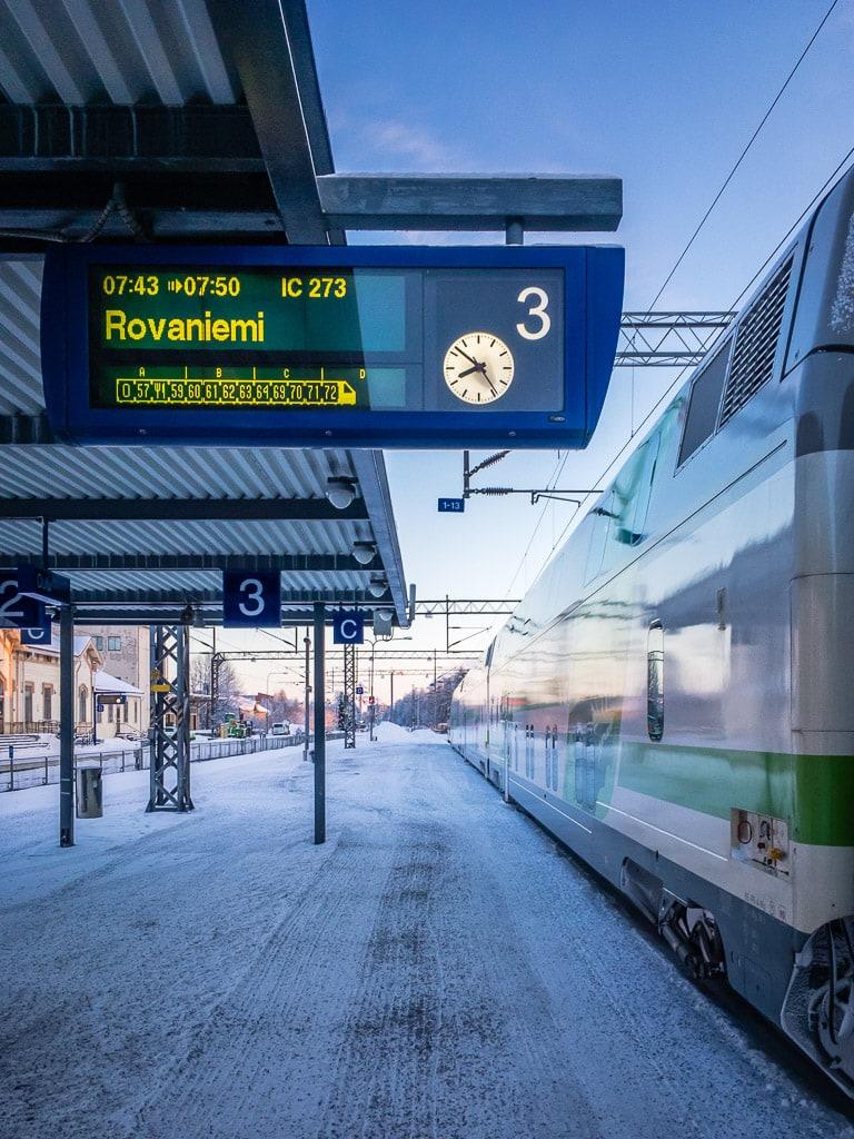 Finnischer Nachtzug nach Rovaniemi