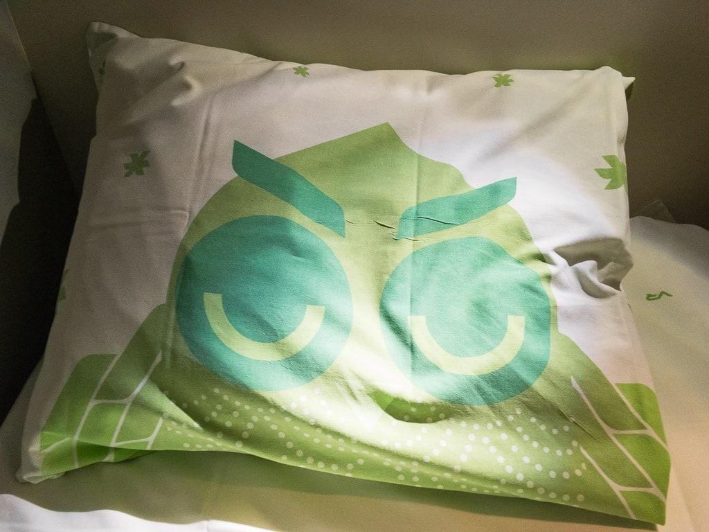 Kissen Bettwäsche im finnischen Schlafwagen