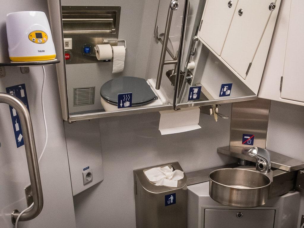 Toilette WC Nachtzug Finnland