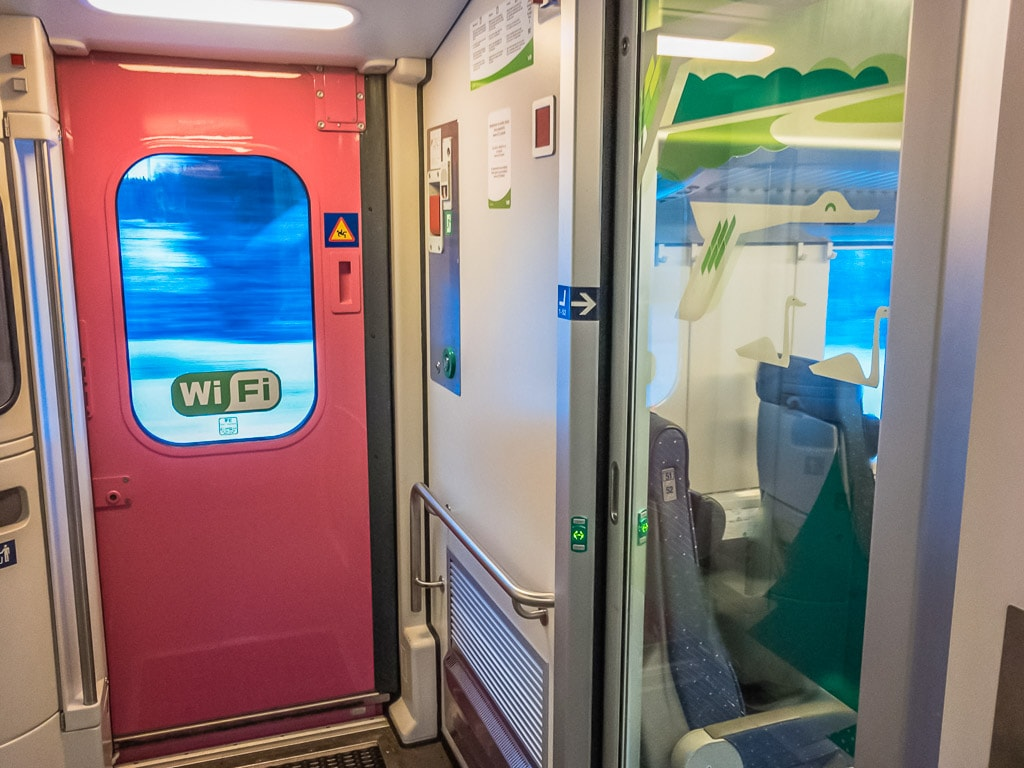 Sitzwagen im finnischen Nachtzug