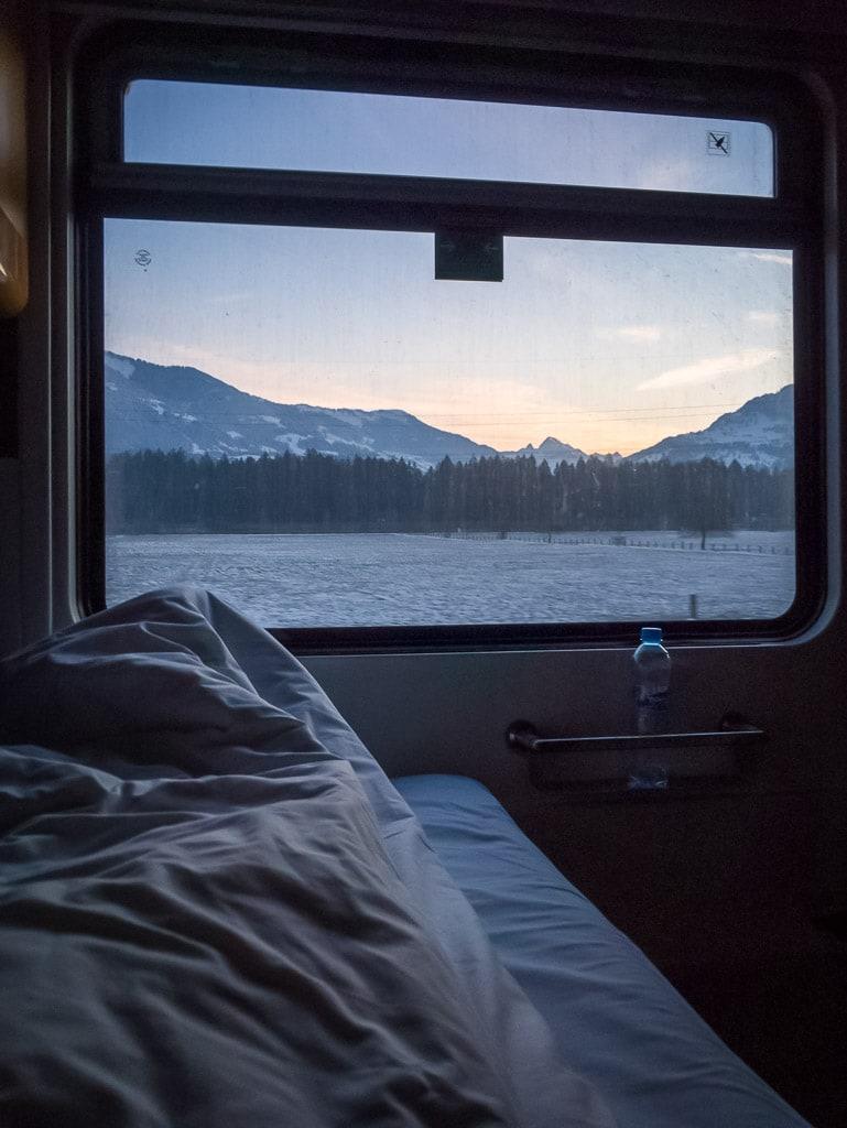 Schlafwagen Tschechische Bahn Prag Zürich