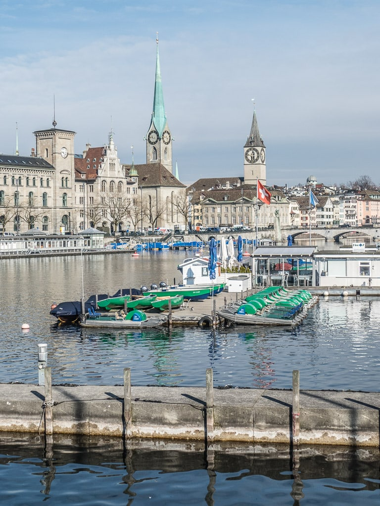 Zürich Schweiz Wasser Limmat