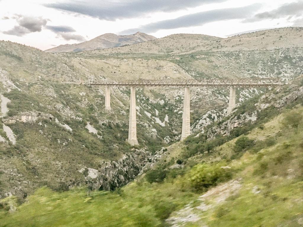 Mala Rijeka Viadukt Bahnstrecke Belgrad Bar Montenegro