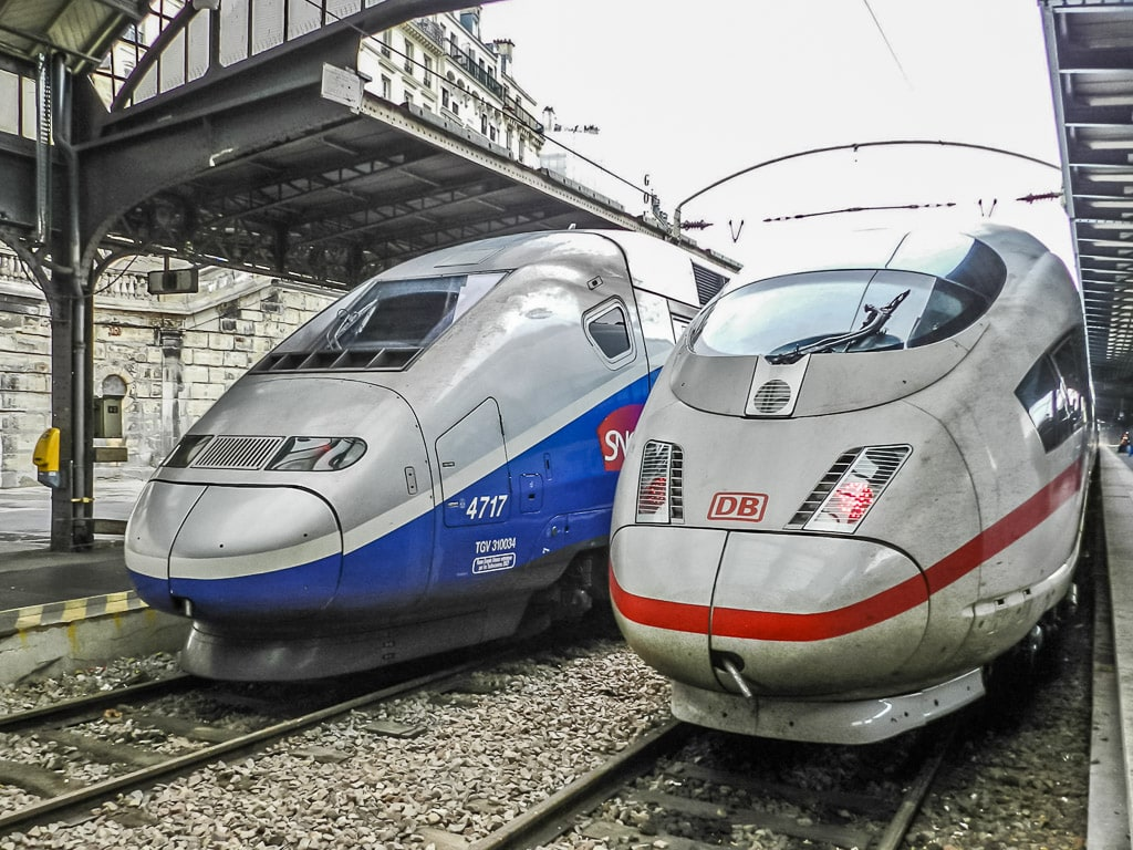 ICE und TGV in Paris Ost