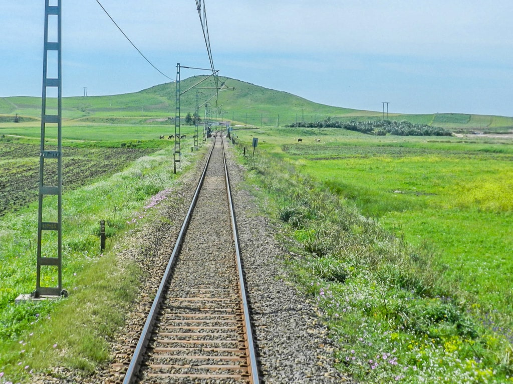 Eisenbahn Marokko Strecke Nordküste