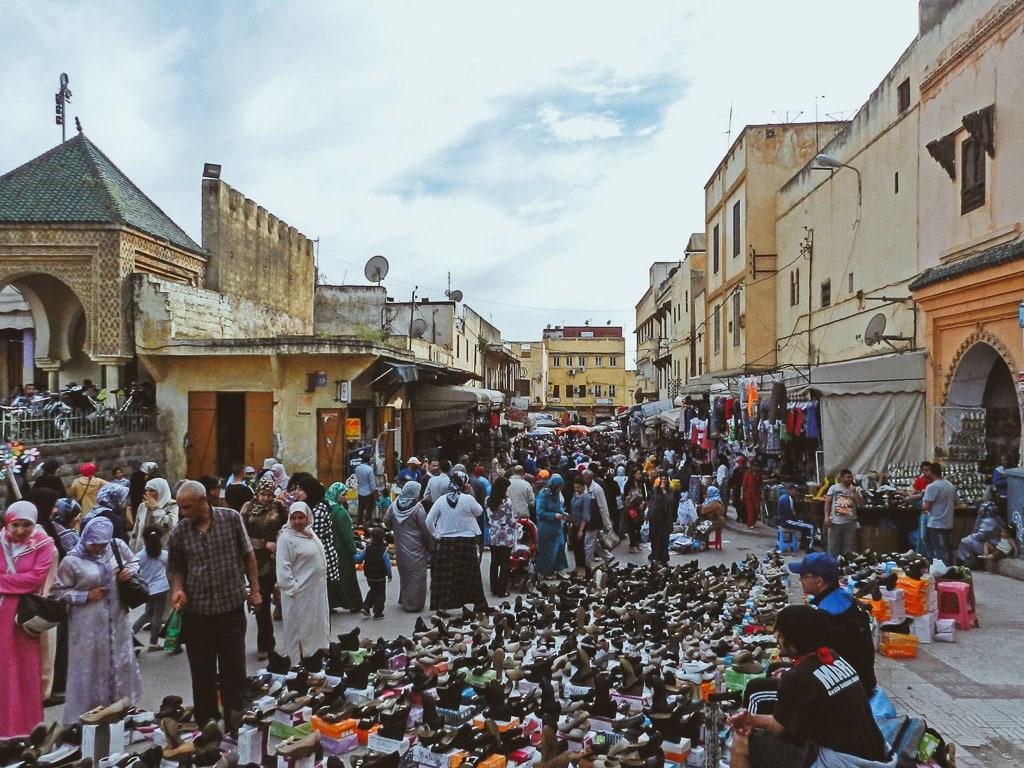 Altstadt Meknès Marokko Basar