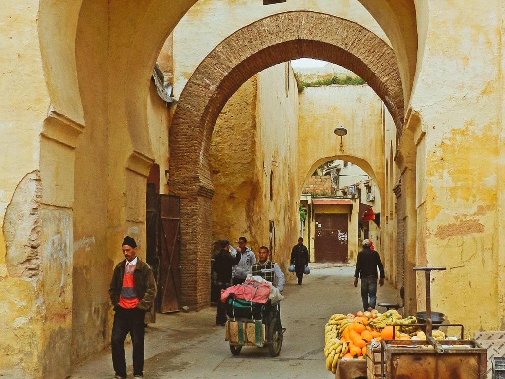 Altstadt Gassen Meknès Marokko