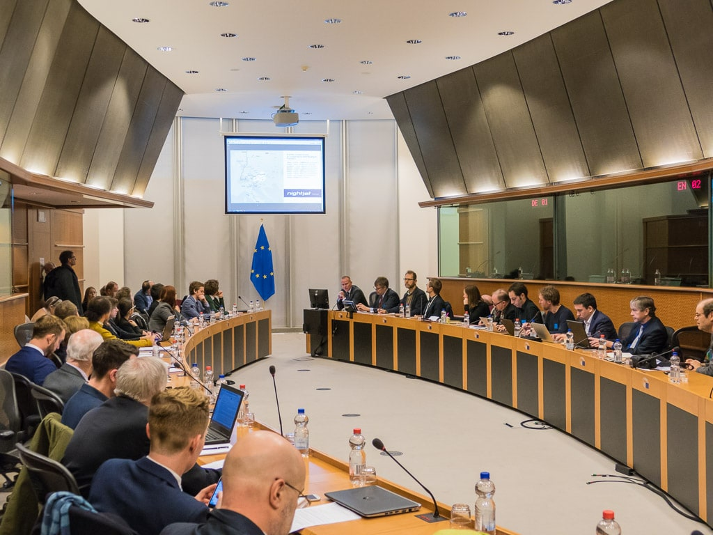 Nachtzug Konferenz EU Parlament Brüssel Back on Track
