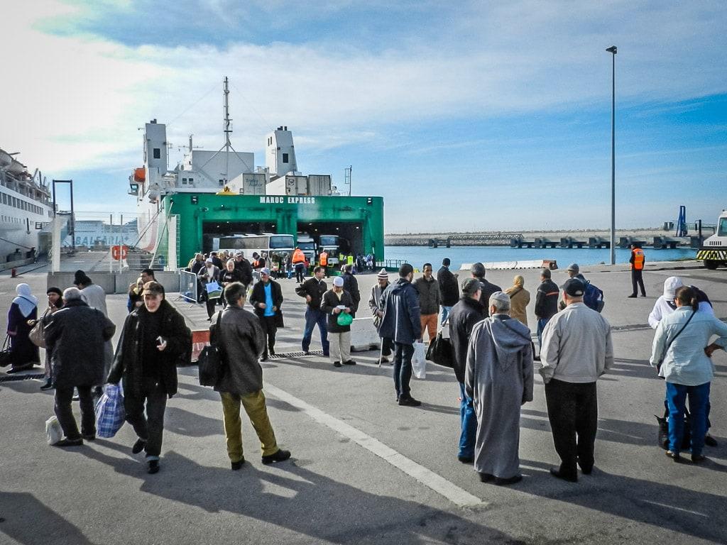Ankunft Fähre Tanger Med