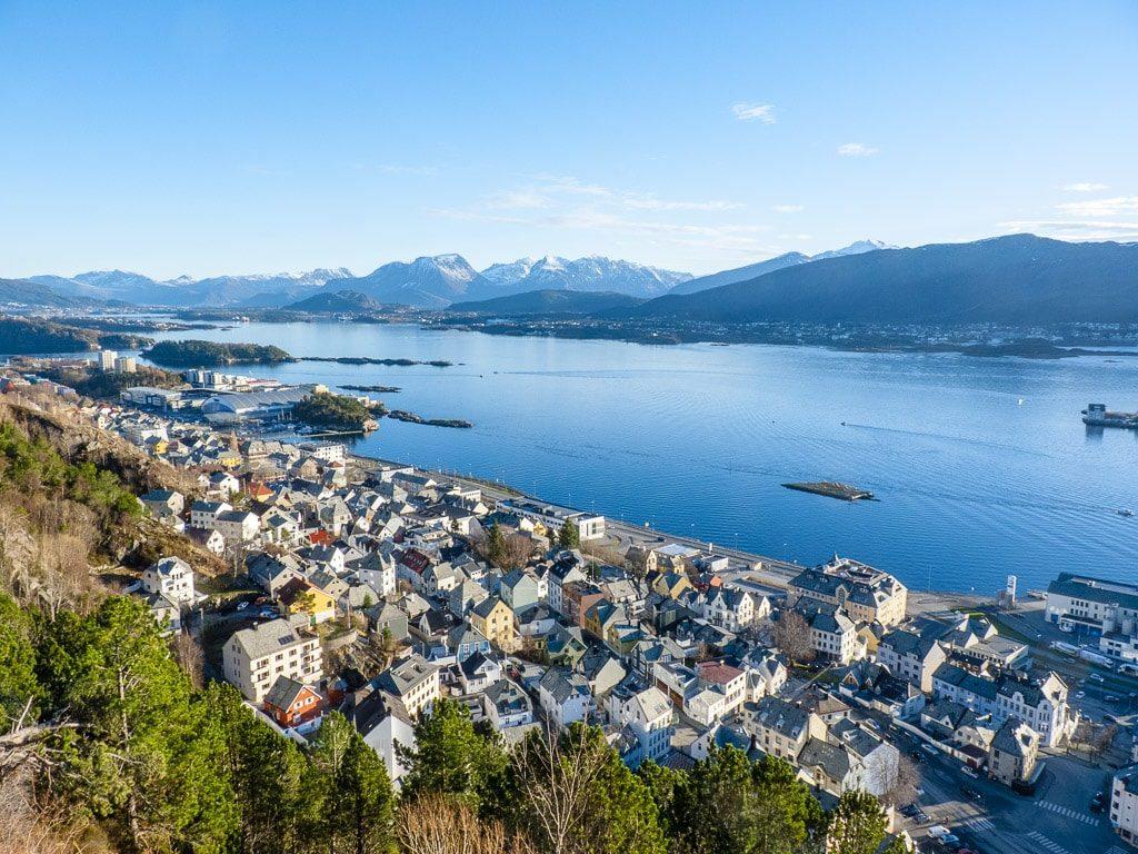 Ålesund Norwegen Luftbild Aussicht