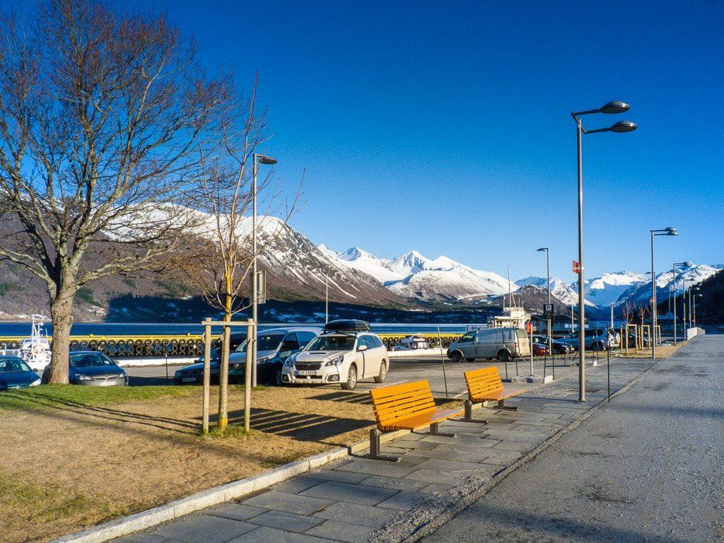 Åndalsnes Norwegen Bahnhof Togbuss