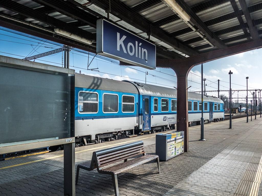 Kolín Bahnhof Bahnsteig