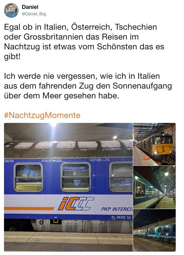 Nachtzug Momente Daniel Schlafwagen Polen England Ungarn Italien