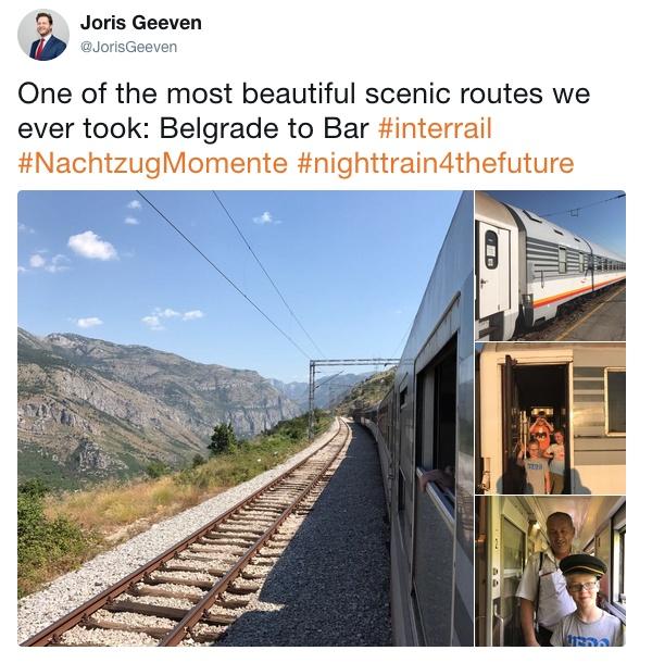 Nachtzug Momente Joris Belgrad Bar Montenegro