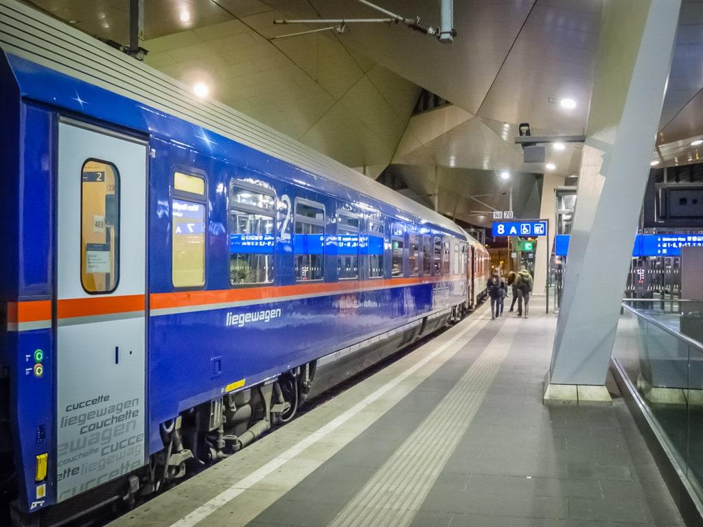 ÖBB Nightjet Wien Hauptbahnhof