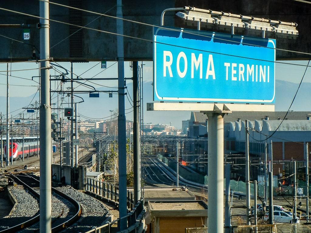 Rom am Bahnhof Roma Termini