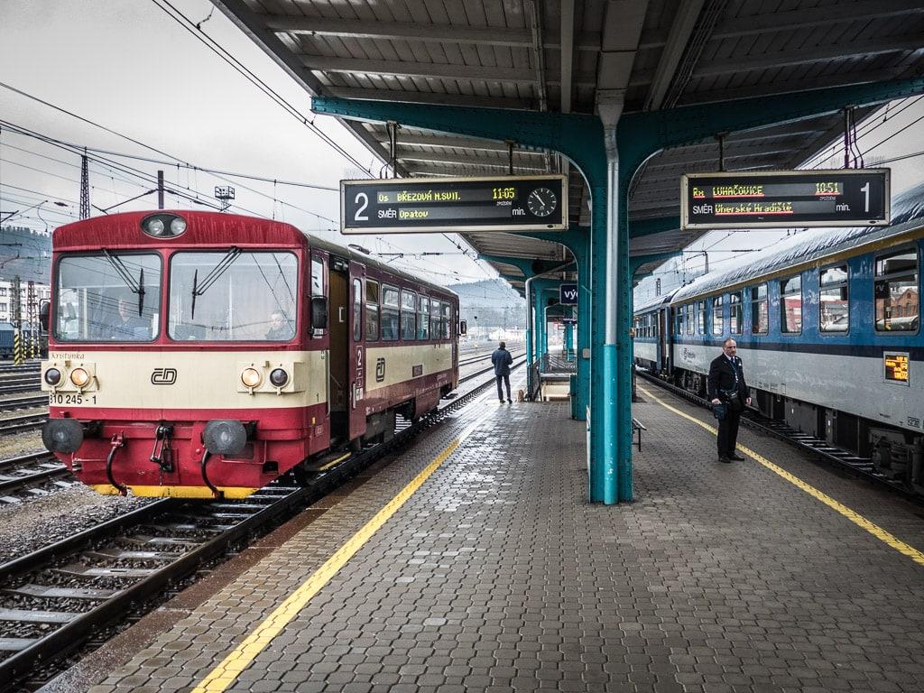Bahnhof Česká Třebová Brotbüchse Schnellzug
