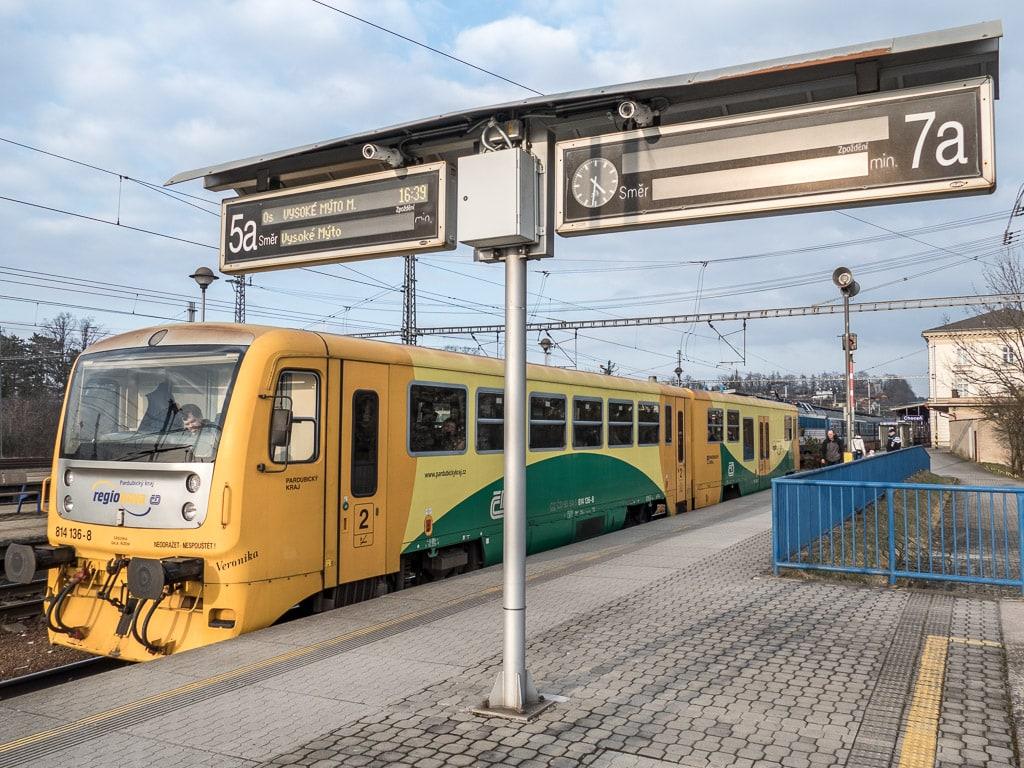Bahnhof Chocen Tschechien Regionova